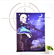 Dark bullet Valentina animation around the bedroom mural poster bed