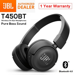 JBL T450BT T450 Wired Foldable Bluetooth Wireless On-Ear Headset Headphones 12 Month Warranty