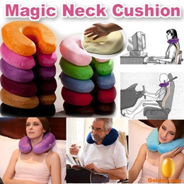 Magic Memory Foam Neck Cushion/GDD-Neck care Pillow/Vertebra Prevention/ Protect your Neck-Magical U Cushion/ Travel neck cushion