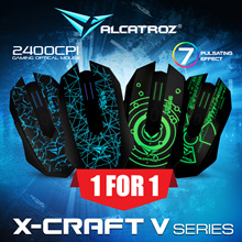 New Online Promo! 1 For 1 Alcatroz X-Craft V-Series 2400 CPI Optical Sensor. 6 Buttons Programmable Gaming Mouse. Rubberized Finishing Enhance Grip and Comfort. 24 Months Local Warranty.
