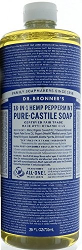 💖$1 Shop Coupon💖  Dr. Bronner  Peppermint Pure Castile Oil Made With Organic Oils Certified