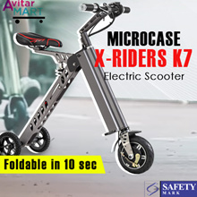 [NEW ORIGINAL] Microcase X-riders K7 - Fold less than 10 Second ! - Electric Scooter - Easy to carry