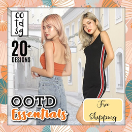 ★NEW ARRIVAL★Buy 3 Free Qxpress★BASIC/KINIT!★Daily Wear Basic series/★Womenswear★Kstyle★Dress/Tees