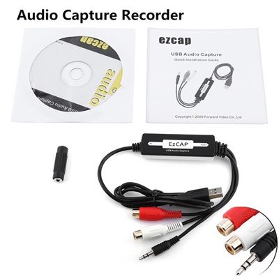 Turntable Vinyl LP Cassette To CD MP3 WAV Converter USB Audio Capture Recorder