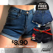 JESSCLOSET - FLAT PRICING * Denim Shorts Comes In Plus Size Up To 10XL Many designs!