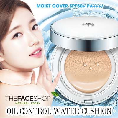 [THE FACESHOP] Oil Control Water Cushion SPF50+ PA+++/ Moist cover / Waterproof / Reducing Sebum Deals for only Rp225.000 instead of Rp225.000