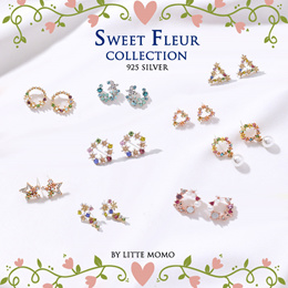 [925 SILVER] LITTLE MOMO  SWEET FLEUR SERIES  KOREAN DESIGNS