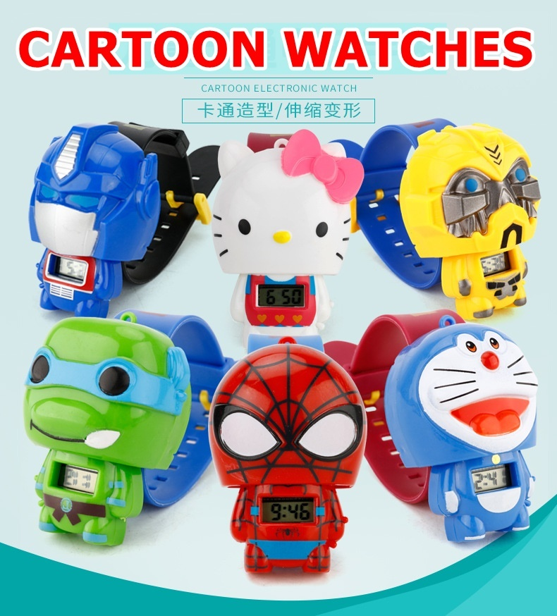 db5445d93d3f actual size. prev next. ♥ Kids Digital Watch ♥PJ Mask Iron Man Avengers  Spiderman Hello Kitty ...