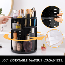 360° Rotatable Makeup Stand / Cosmetics Storage - SAVE 75% SPACE