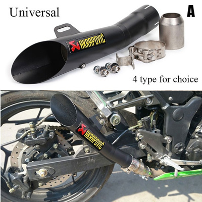 Universal Motorcross Scooter Exhaust Pipe performance Motorcycle Modified  Parts Loud Moto Exhaust