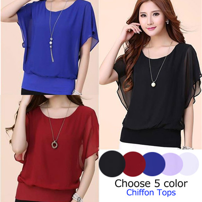 5ef1cec8b725 Spring-Summer New Collection ♥ Blouse 5 Colors / Ladies' Tops / Chiffon