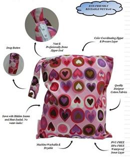 LIMITED TIME OFFER $20 Bundle Set Deal Wet Bag /Waterproof Diaper Bag /Gym Bag /Swimming Bag/ Wetbag