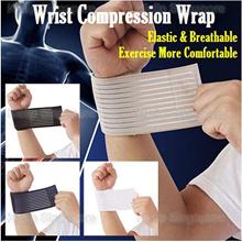 Elastic stretchy Sports Wristband Wrist Support brace wrap  Gym Protector x 2