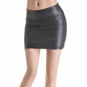 428543b54c Quick View Window OpenWish. rate:new. shop Spring Summer Casual PU Leather Skirt  Women Elegant Skirt Lady Skinny High Waist Skirts Black