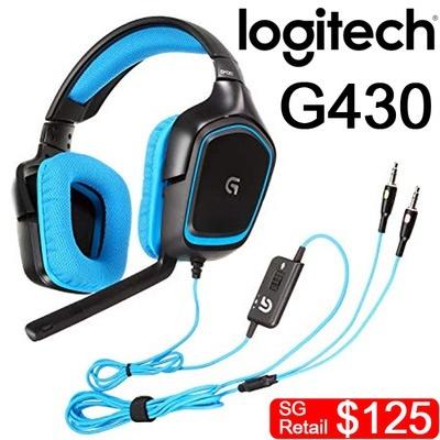 6faf8ce678c [Logitech] G430 SURROUND SOUND GAMING HEADSET / Dolby Headset /Headphone /  PC/