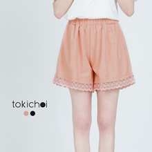 TOKICHOI - Lace Trimmed Flare Shorts-170301