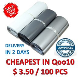 [ORTE] CHEAPEST★$3.50/100 Pcs★Polymailer★Qxpress★White Poly Mailer Bags★Envelope★ Fast Delivery