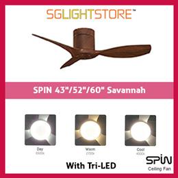 SgLightStore - Spin Savannah - 43/52/60 Inch (Walnut Grain)