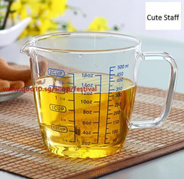 Japan imported hario Pyrex measuring cup with a scale kitchen baking cup of coffee metering CMJW-500