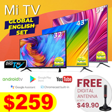 【Digital-Ready】Mi LED TV 32| 43| 55 inch |Global Eng Set | Xiaomi Smart Android TV w Google Playstor