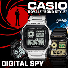 [AUTHENTIC CASIO SELLER] Casio World Time AE-1200WH Digital Watch ** Free Reg. Shipping and 1 Year W