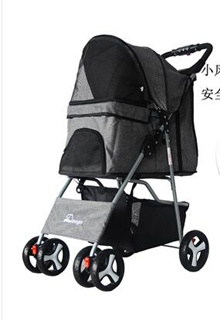 No-Zip Happy Trails Lite Pet Stroller for Cats/Dogs, Zipperless Entry, Easy Fold with Removable Line