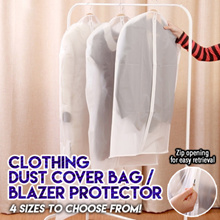 ★ Clothing Dust Cover Bag / Blazer Protector ★ Full Coverage See-Through Foldable Garment Bag