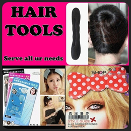 ★stock in SG★hair TOOLs/beauty tools/fringe magic sheet~bun sponge roller~hair clip/rubber band