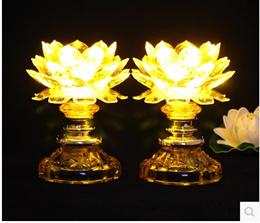 LED Crystal Light before imitation Lotus Buddha Buddha lamp for light long light_Yi Chau