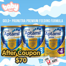 *Apply $30Shop+$20 Cart Coupon* Aptamil Gold+ Premium Milk Formula / New Zealand Imported 900g
