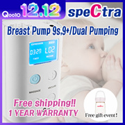 Korea Spectra 9s/9+Electric Breast pump+FreeGift(PP 160ml No Nipple Baby Bottle)
