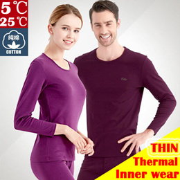 ★THIN 5℃-25℃★ THERMAL inner wear Compression Set Top and Bottom men women /2018 New sleepwear