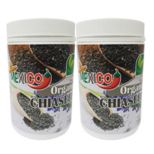Mexico Certified Organic Chia Seeds 500g (2 bottle)  ★ 100% Organic