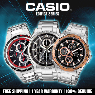 d2d36347d80a CASIO Edifice series Genuine Analog Watch 100% Authentic Metal Strap Band
