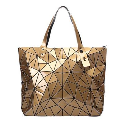 2017 Fashion Women Top-Handle Pearl Bag Diamond Lattice Tote Geometry  Quilted Handbag Geometric Bag 24ee78b18d880