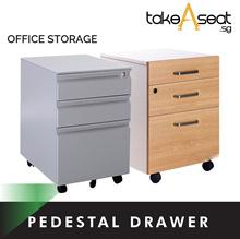 Office Pedestal Drawer ★ 3-Tier Movable Drawer ★ Storage Filing ★ Study Table ★ Desk ★ Furniture