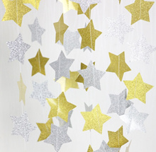 Shiny Twinkle Stars Star Shaped Garland Party Christmas Birthday Wall Decoration