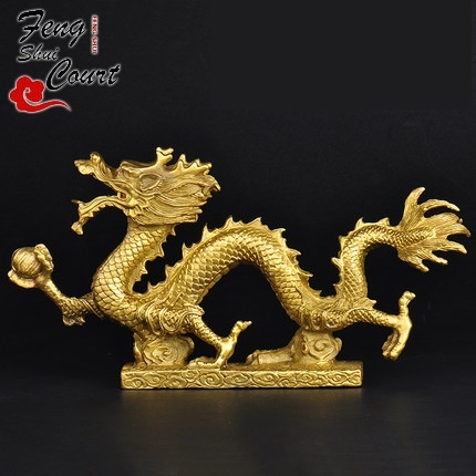 China/'s feng shui white copper dragons carved 12 zodiac animal board statue