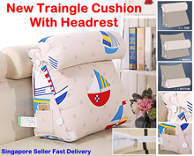 New Big Sofa Bed Chair Headrest Triangle Cushion Backrest Pillow Neck Pillow Soft Wedge Cushion Back