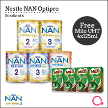 [NESTLÉ NAN] Nan Optipro/HA/Kid hypoallergenic formulated milk  | Bundle of 6 (Use Qoo10 Coupon)