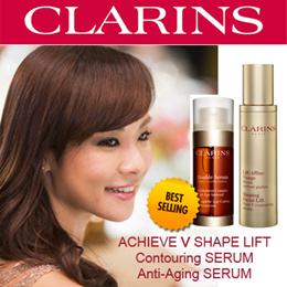 [Clarins]Clarins Double Serum Complete Age Control Concentrate/ Clarins Shaping Facial Lift Total V Contouring Serum *HER WORLD BEAUTY AWARD*57 Awards around the world*