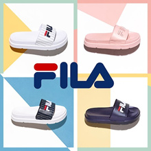[FILA] ♥Use Cart Coupon $4♥Couple Sandals Slipper Drifter Jacked Up Stripes / Drifter Stripes/ Fur Sandals