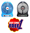 【Buy 1 Free 1】 Hadata Mini Fan Portable USB Rechargeable Extra Super Strong Wind Coolin Fan