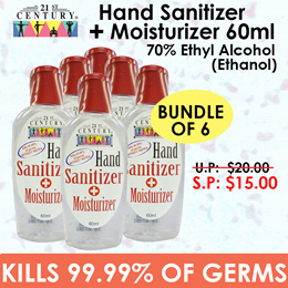 [21st Century] Bundle of 6 - Hand Sanitizer with Moisturizer 60ml
