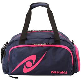 ニッタク(Nittaku) 卓球バッグ ハニカムゴーウェイ NK7516 1 ネイビー×ピンク 【卓球 バッグ ボストンバッグ 旅行 遠征】