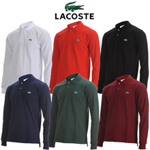 [Coupon Price $34][ LACOSTE ] Lacoste Classic Basic Long-Sleeved T-Shirts ( 6 Colors )