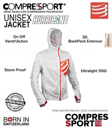 Compressport Hurricane Jacket White. FREE SHIPPING!