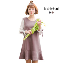 TOKICHOI - Striped Frill Hem Dress-180242