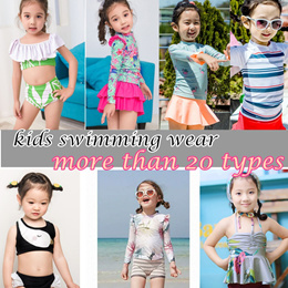 Dinlong Toddler Baby Kids Girls Swimwear Sleeveless Floral Summer Stitching Sling Lace Halter Swimsuit Beach One Piece
