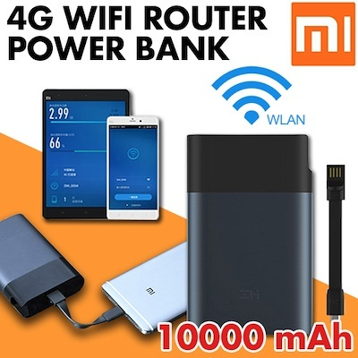 ZMI Portable Router Full Network Pass Portable 4G Wireless Wifi Xiaomi  Router 10000 mAh power bank